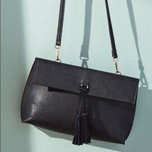 NWT Anthropologie Black Envelope Crossbody Bag